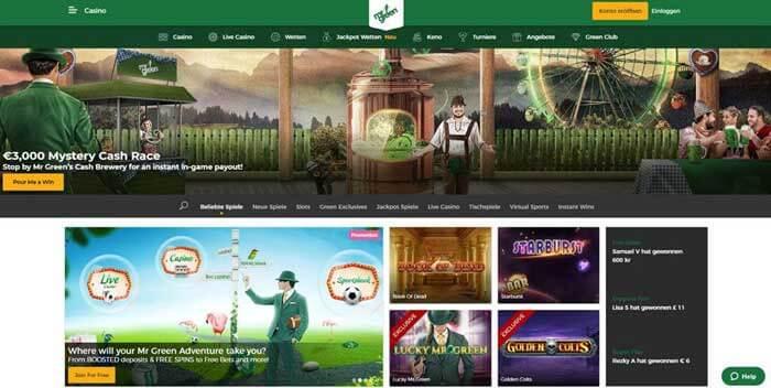 Mr Green Online Casino Erfahrungen